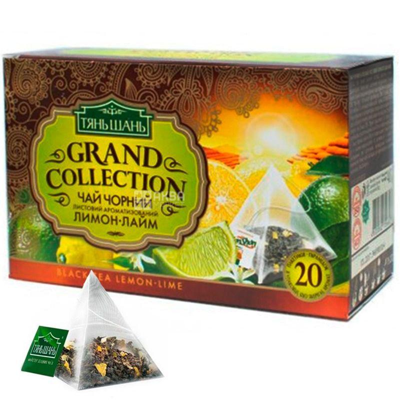 Тянь Шань, Lemon-Lime, 20 пак.,Чай Лимон-Лайм, черный