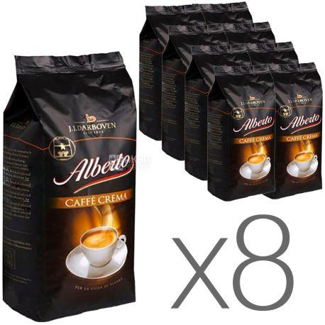 J.J. Darboven Alberto Caffè Crema, 1 кг, Упаковка 8 шт., Кофе Дарбовен Альберто Крема, средней обжарки, в зернах