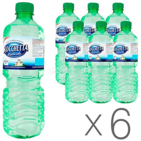Rocchetta Naturale, 0,5 л, ПЭТ, Упаковка 6 шт., Рочетта Натурале, Вода минеральная негазированная, ПЭТ
