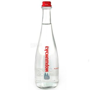 Morshynska, 0.5 L, Still Water, Premium, Glass, glass