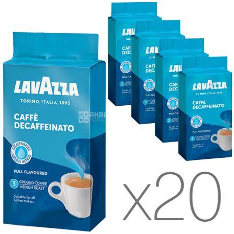 Lavazza Decaffeinato, Кофе молотый без кофеина, 250 г, Упаковка 20 шт.