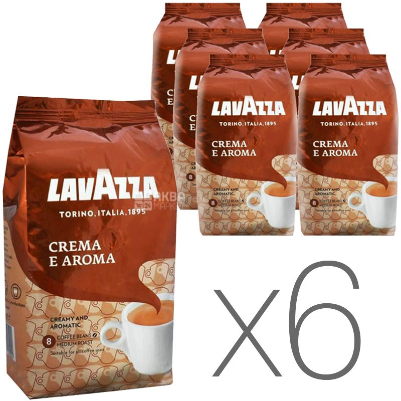 Lavazza Crema e Aroma, Coffee beans, 1 kg, Packaging 6 pcs.