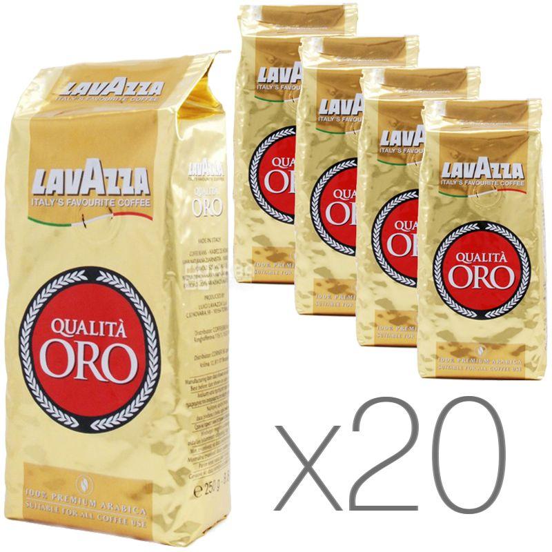 Lavazza Qualita Oro, Кофе в зернах, 250 г, Упаковка 20 шт.