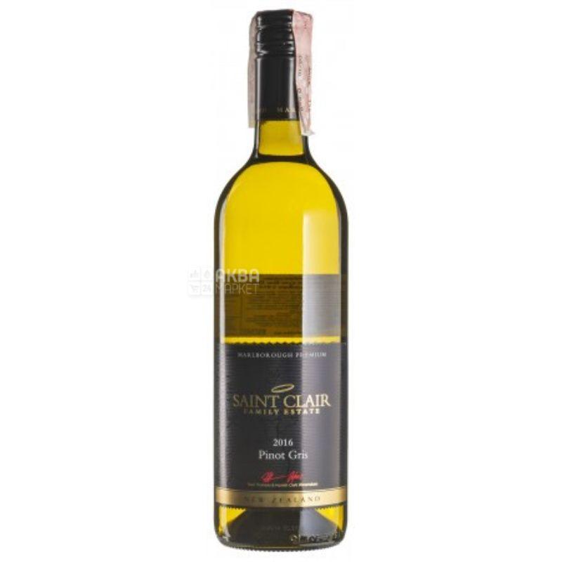 Pinot Gris Marlborough, Saint Clair, Вино белое сухое, 0,75 л