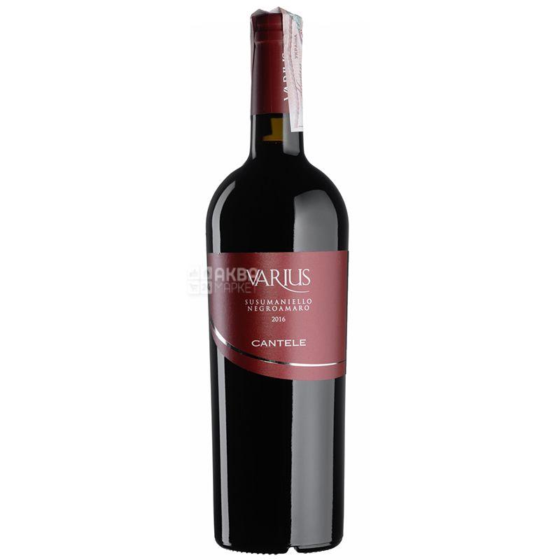 Cantele, Varius Susumaniello Negroamaro, Вино красное сухое, 0,75 л