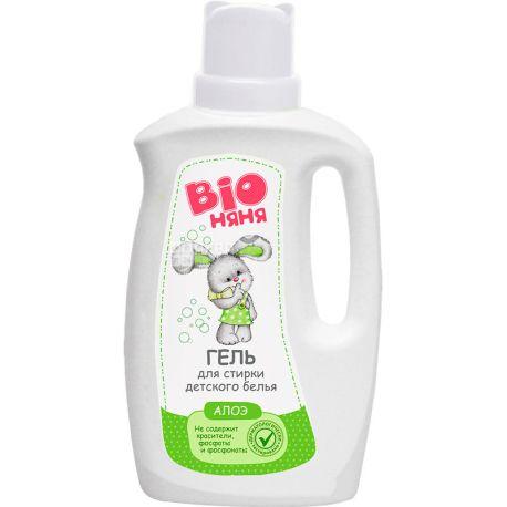 Bio Няня, 1 л, Гель для прання дитячої білизни, Алое вера