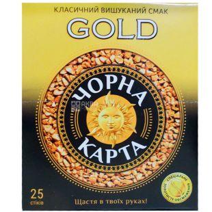 Черная Карта Gold, 25 шт. х 2 г, Кофе растворимый, Голд, в стиках