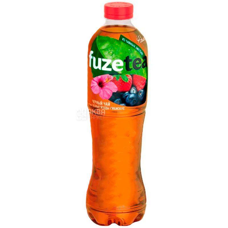 Fuzetea, 1,5 л, Чай Фьюзти холодный, черный, Лесные ягоды и гибискус