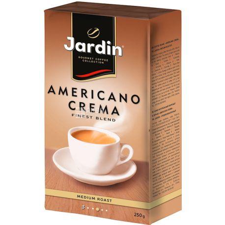 Jardin Americano Crema, 250 г, Кофе Жардин Американо Крема, светлой обжарки, молотый