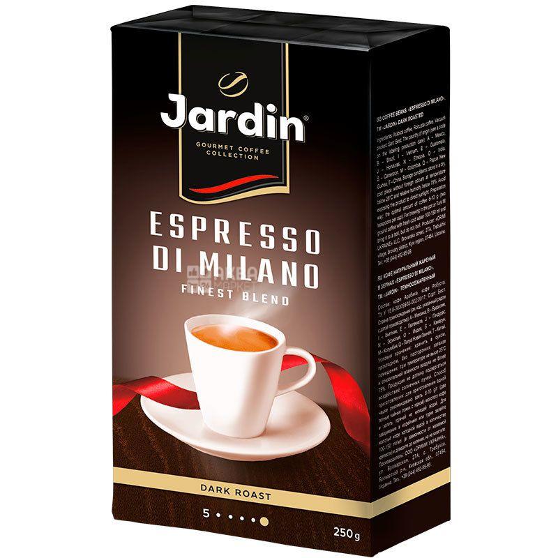 Jardin Espresso Stile di Milano, 250 г, Кава Жардін Еспрессо Мілано, темного обсмаження, мелена