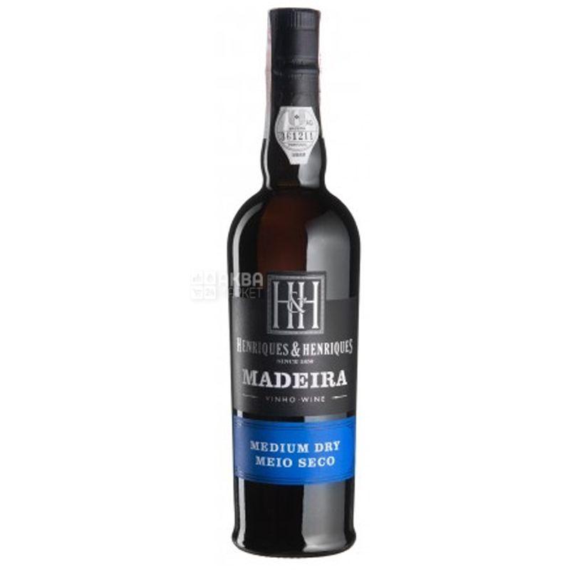 Medium Dry, Henriques & Henriques, Вино белое полусухое, 0,5 л