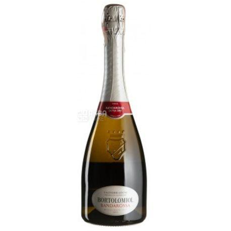 Bortolomiol, Bandarossa Valdobbiadene Prosecco Superiore, Вино ігристе біле сухе, 0,75 л
