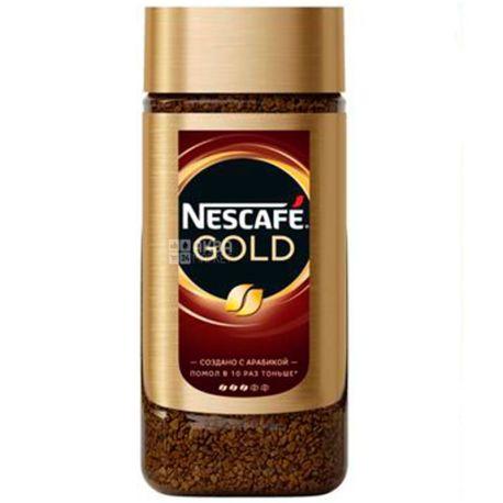 Nescafe Gold, 95 г, Кофе Нескафе Голд, растворимый, стекло