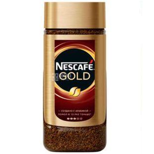 Nescafe Gold, 95 г, Кава Нескафе Голд, розчинна, скло