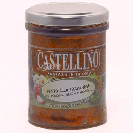 Castellino, Соус песто Трапанезе с томатами, миндаль, базиликом, 180 г
