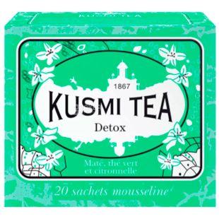 Kusmi Tea, Detox, 20 пак. х 2,2 г, Чай Кусми Ти, Детокс, зеленый с лимоном