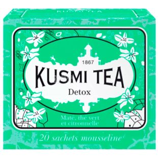 Kusmi Tea, Detox Tea Arrangement, Tea Bags, 20x2.2 g
