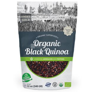 Andes Alimentos & Bebidas, Кіноа чорна органічна, 500 г