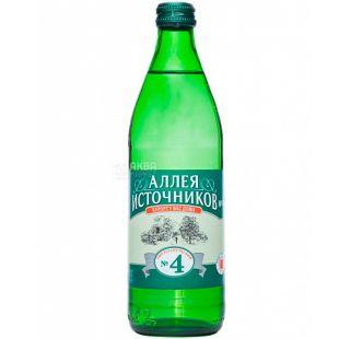 Алея Джерел, Єсентуки №4, 0,5 л, Вода мінеральна газована, скло