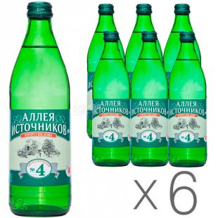 Essentuki-4, Sources Alley, Mineral water, 0.5 l, Glass, Packaging 6 pcs.