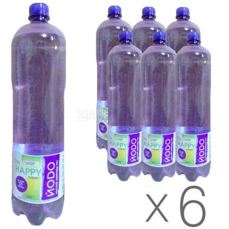 Йодо, 1,5 л, Упаковка 6 шт., Вода минеральная сильногазированная, ПЭТ