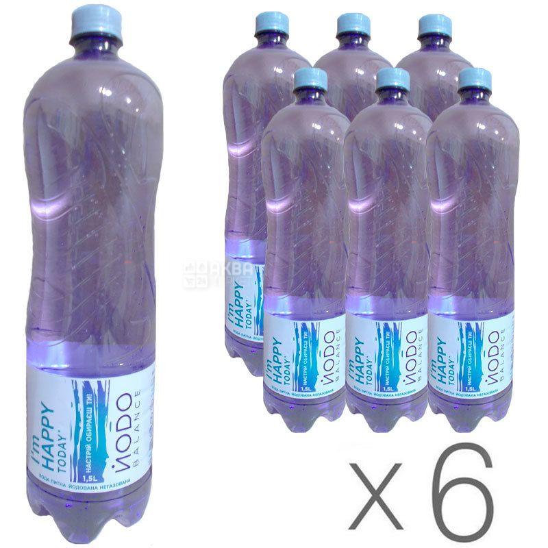 Йодо, 1,5 л, Упаковка 6 шт., Вода минеральная негазированная, ПЭТ
