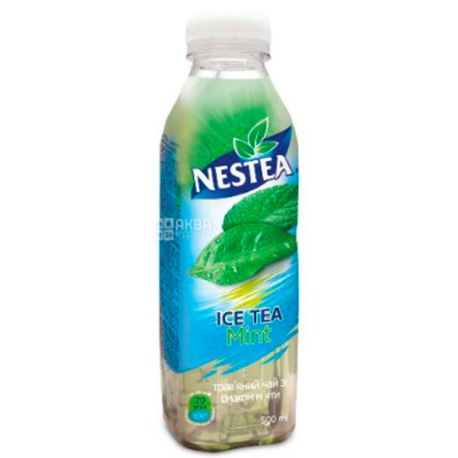 Nestea Mint, 0,5 л, Чай Нести холодний трав'яний, М'ята