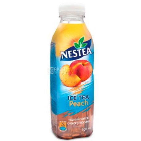 Nestea Peach, 0,5 л, Чай Нести холодный черный, Персик