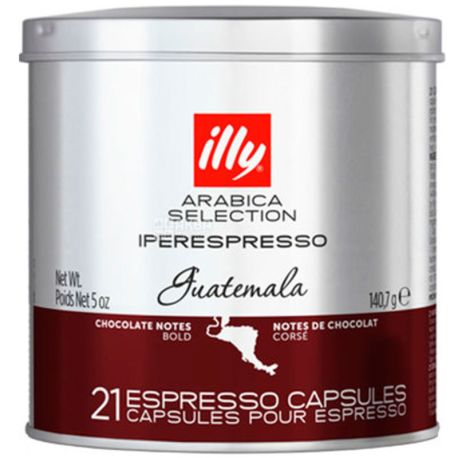 illy, Guatemala Arabica Selection, 21 х 6,7 г, Кава Іллі, Гватемала, в капсулах, ж/б