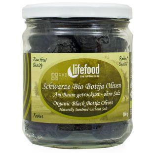 Lifefood, Оливки черные высушенные на солнце без соли органические, 300 г