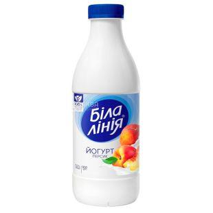 Белая линия, Йогурт Персик, 1,5%, 900 г