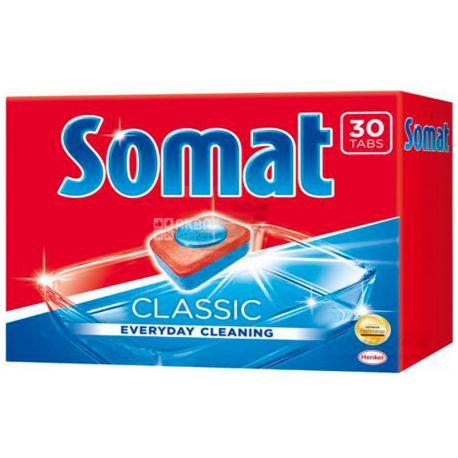 Somat, 30 шт., таблетки для посудомоечной машины, Classic, м/у