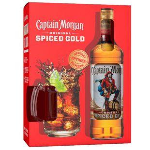 Captain Morgan, Spiced Gold, Ром, 0,7 л + кружка