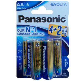 Panasonic Evolta AA BLI, Батарейки алкалиновые, 4+2шт