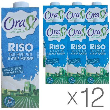OraSi, Riso, 1л, ОраСи, Рисовый напиток, с витаминами и кальцием, Упаковка 12 шт.