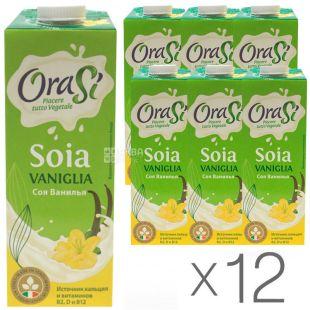 OraSi Soia Vaniglia 1 л, Ораси Напиток соевый, Ванильный, упаковка 12 шт.