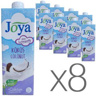 Joya Kokos Coconut Calcium, Упаковка 8 шт. по 1 л, Джоя, Кокосовое молоко, с кальцием и витаминами