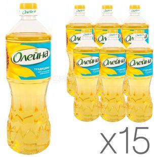 Олейна Традиційна, 0,85 л, Олія соняшникова, Рафінована, упаковка 15 шт.