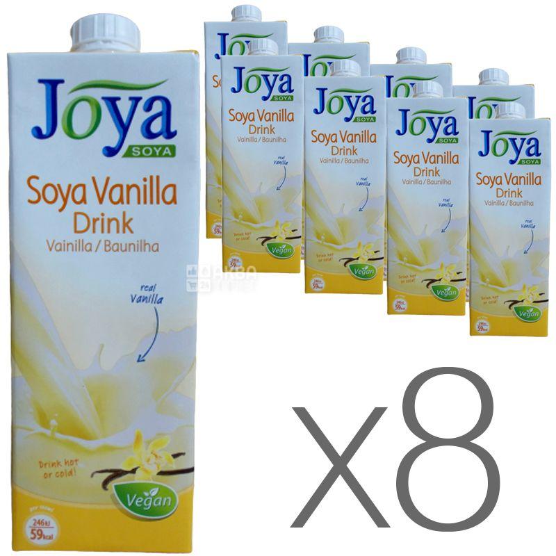 Joya Soya Vanilla, Упаковка 8 шт. по 1 л, Джоя, Соевое молоко, с ванилью