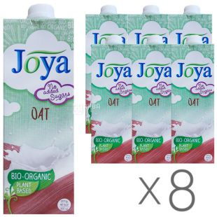 Joya Oat Drink, Молоко овсяное, 1 л, Упаковка 8 шт.