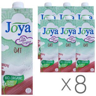 Joya Oat Organic, Упаковка 8 шт. по 1 л, Джоя, Вівсяне молоко, органічне, без цукру і лактози