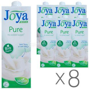 Joya Bio Pure Organic, Напиток соевый, 1 л, упаковка 8 шт.