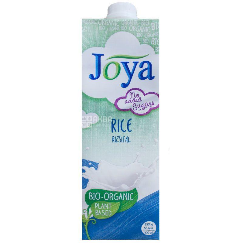 Joya Rice Organic, 1 л, Джоя, Рисовое молоко, органическое, без сахара и лактозы