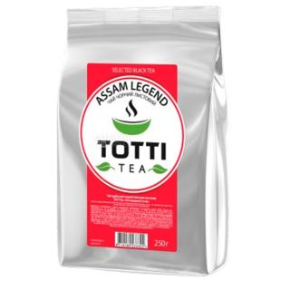 TOTTI Tea, Assam Legend, 250 г, Чай Тотти, Легендарный Ассам, черный