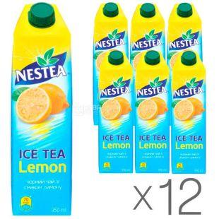 Nestea Lemon, упаковка 12 шт. по 0,95 л, Чай Нести холодний чорний, Лимон