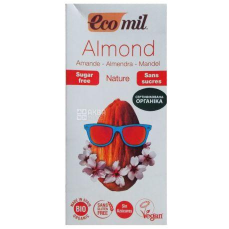 Ecomil, Almond milk, 1 л, Экомил, Растительный напиток, Миндаль, без сахара