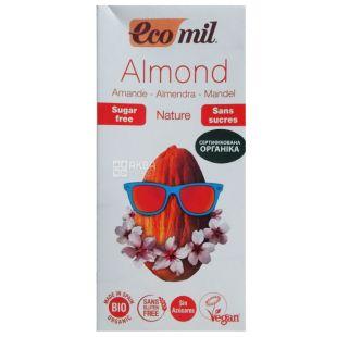 Ecomil Almond milk, 1 l, Almond milk, Sugar free