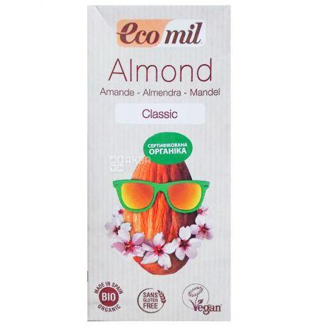 Ecomil, Almond Classic, 1 л, Экомил, Растительный напиток, Миндаль, без глютена