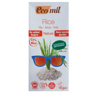 Organic Rice Milk, Sugar Free, 1 L, TM Ecomil