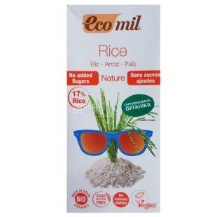 Ecomil, Rice, 1 л, Екоміл, Рослинний напій, Рис без цукру